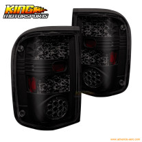 For 1993-1999 Ford Ranger LED Brake Tail Lights Lamps Black