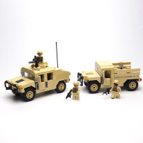 Military Hummer H1 Building Block Bricks SWAT Team Military