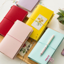 Leather Traveler Notebook Planners Creative DIY Macaron